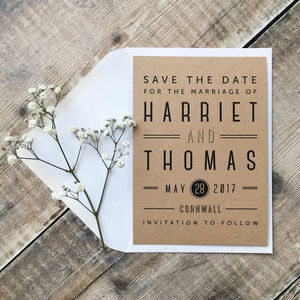 Graphic Type Wedding Save The Date Card - save the date cards