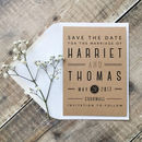 Graphic Type Wedding Save The Date Card