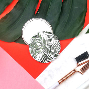 Palm Leaf Pocket Mirror