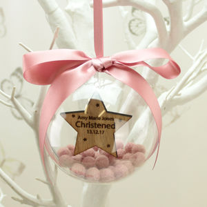 Personalised Christening Hanging Star Ornament