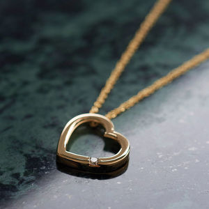 Nine Ct Gold Diamond Necklace - 60th anniversary: diamond