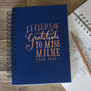Letters Of Gratitude Personalised Envelope Book