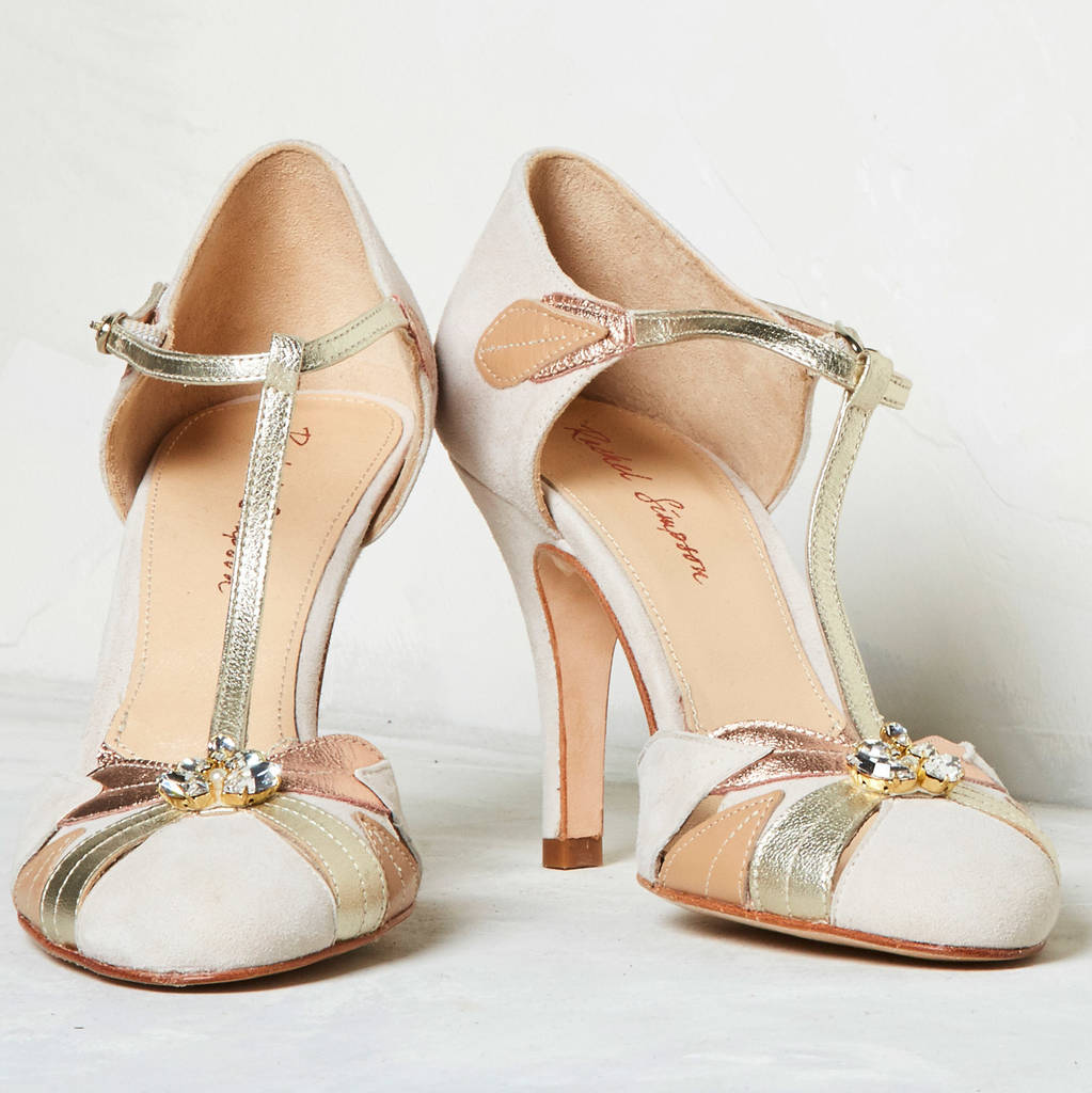 Wedding Shoes Emmeline Blush Ivory By Rachel Simpson