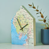 Personalised Map Location House Wall Clock - home