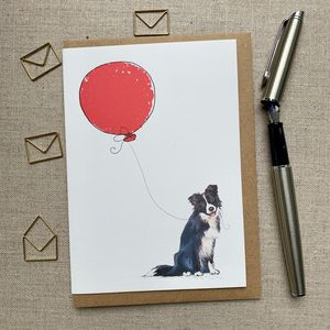 Personalised Border Collie Birthday Card