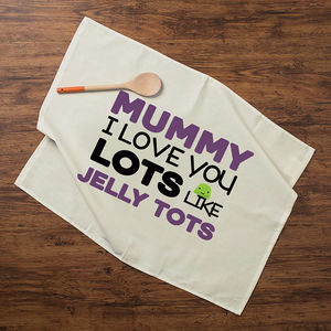 Personalised Cotton Tea Towel Jelly Tots - kitchen