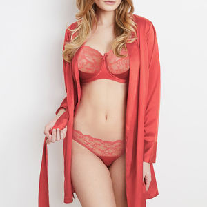 Sophia Red Silk Robe - bathrobes & dressing gowns