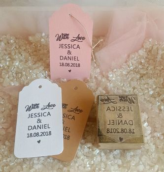 Personalised Wedding Favour Tag Stamp