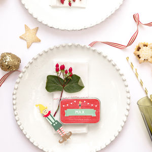 Personalised Elf Place Setting Alternative Cracker - toys & games