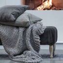 Chunky Knit Kumari Throw
