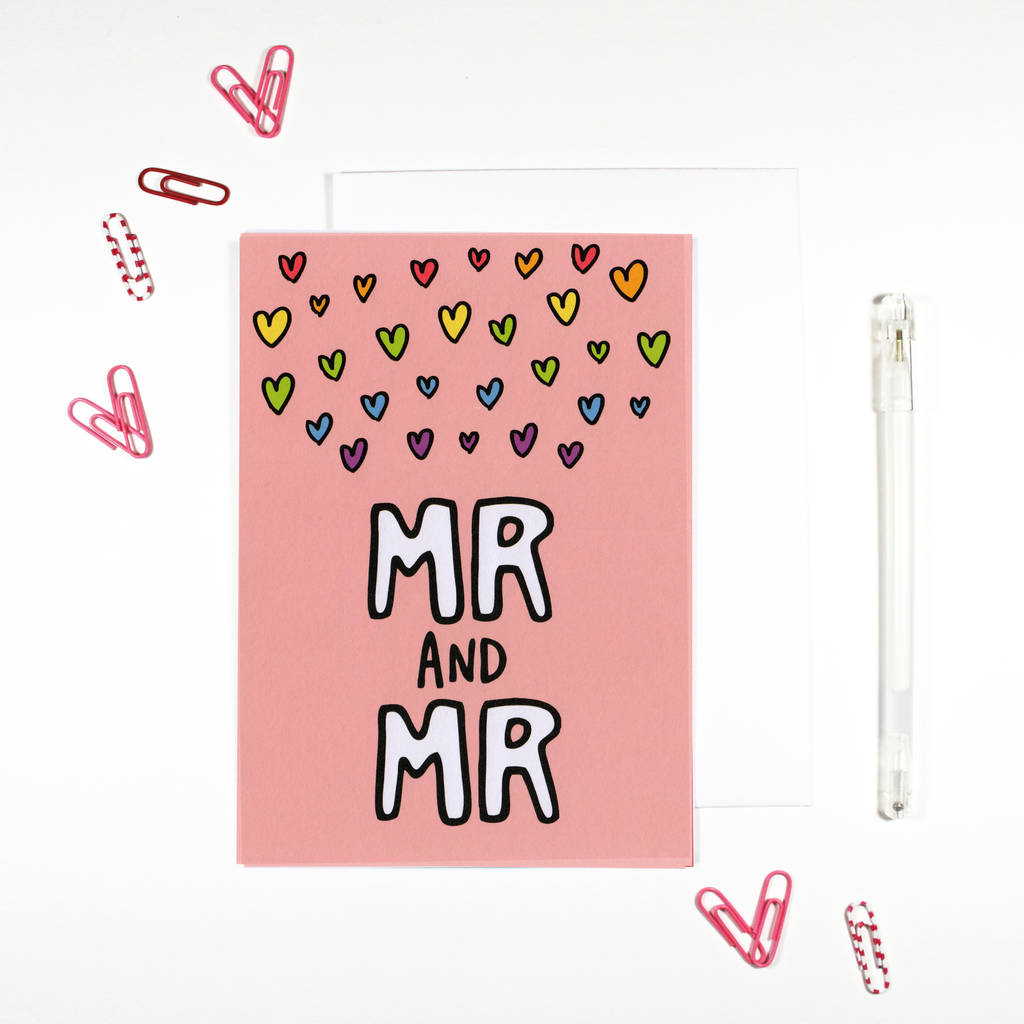 Mr And Mr Gay Wedding Card By Angela Chick Notonthehighstreet Com