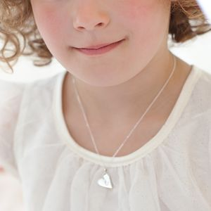 Mini Iris Heart Personalised Sterling Necklace - first holy communion gifts