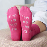Personalised Please Bring Prosecco Socks - mum loves
