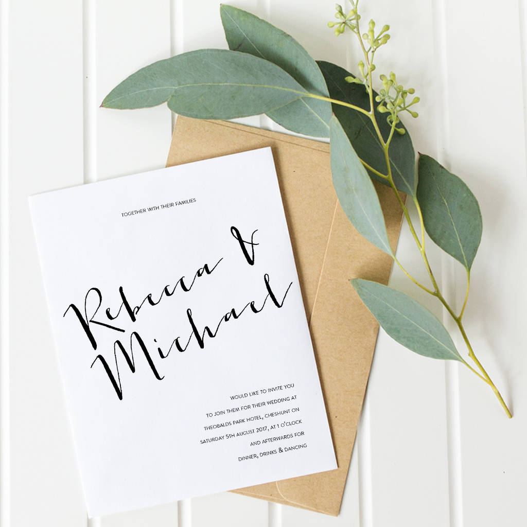 Wedding Invitation Set Hunter Collection By Hello Hadley Paper