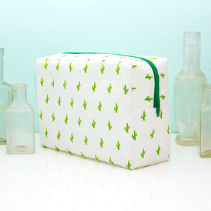Large Cactus Print Washbag And Gift Box