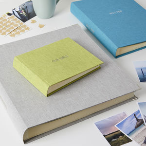 Luxury Personalised Photo Album In Linen
