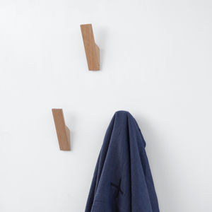 Contemporary Oak Wall Hook