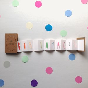 Bon Voyage Concertina Card - leaving cards