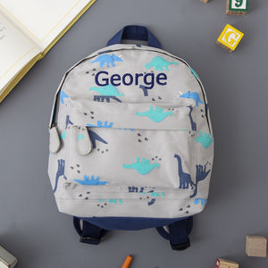 Personalised Dinosaur Print Backpack