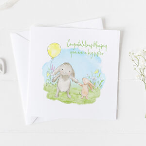 Big Sister New Baby Card Christening Card ..V2a22