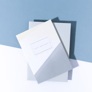 'Merci Beaucoup' Dip Dye Card - thank you cards