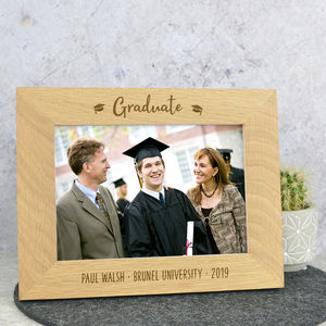 Graduation Solid Oak Photo Frame