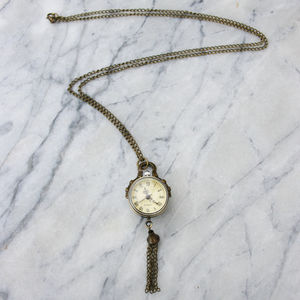 Looking Glass Pocket Watch Necklace