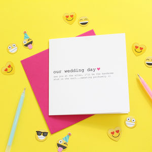 Wedding Day Card For Your Bride, Personalised Card