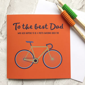To The Best Dad Bicycle Card