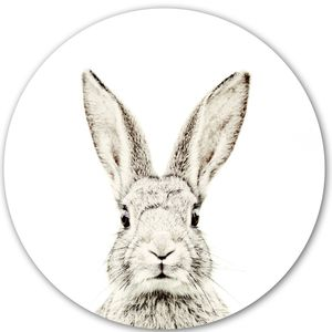Rabbit Print Magnetic Wall Sticker - decorative accessories