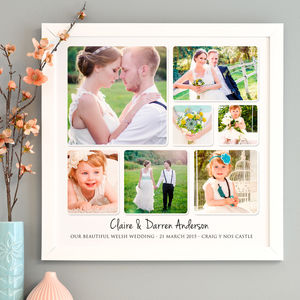 Personalised Wedding Photo Collage - dates & special occasions