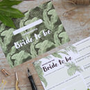 Advice For The Bride Cards: Tropical