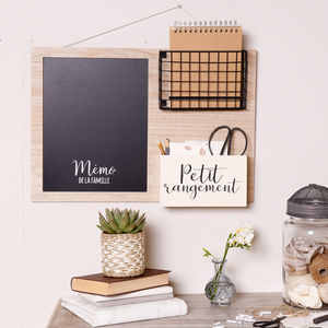 Traditional French Basket Noticeboard - kitchen
