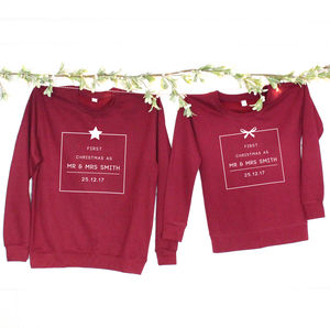 'First Christmas As Mr And Mrs …' Christmas Jumpers - sweatshirts & hoodies