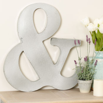 Decorative Metal Ampersand