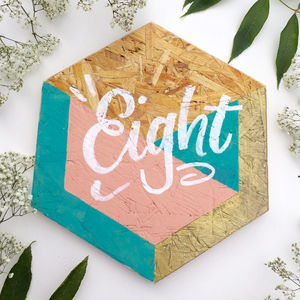 Geometric Wedding Table Number - table numbers