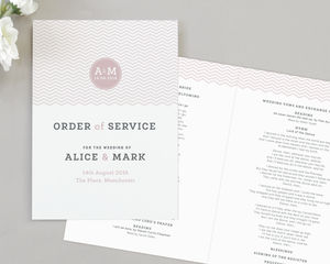 Zara Wedding Order Of Service Four Page Booklet