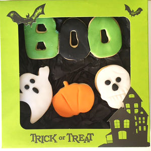 Handmade Halloween Iced Shortbread Biscuits - cakes & sweet treats