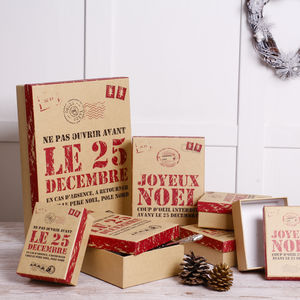Set Of Seven Christmas Gift Boxes