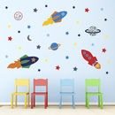Space Rockets Wall Stickers