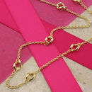 9ct Gold Twisted Ring Necklace