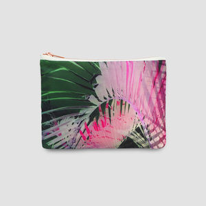 Tropical Pink And Green Palm Bag