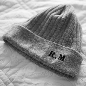 Personalised Initials Beanie Hat - mens