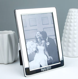Personalised Silver Plated Photo Frame - children's room accessories