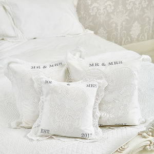Personalised Wedding Cushion - new in home