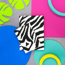 Personalised Mono Zebra Notebook