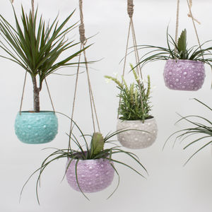Enamel Hanging Planter