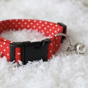 Christmas Spotty Dog Collar - gifts for your pet