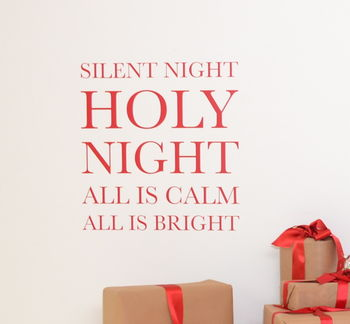 Silent Night Wall Sticker