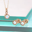 Rose Gold Opal Birthstone Jewellery Set
